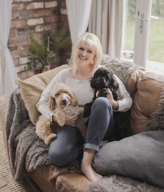 Fran Stephenson with her two lovely dogs